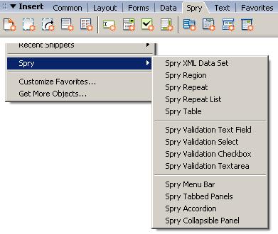 Spry Ajax Framework