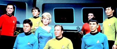 Tripulação da Enterprise na série original.